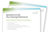 PDF of Questions to Ask Your Hearing Professional