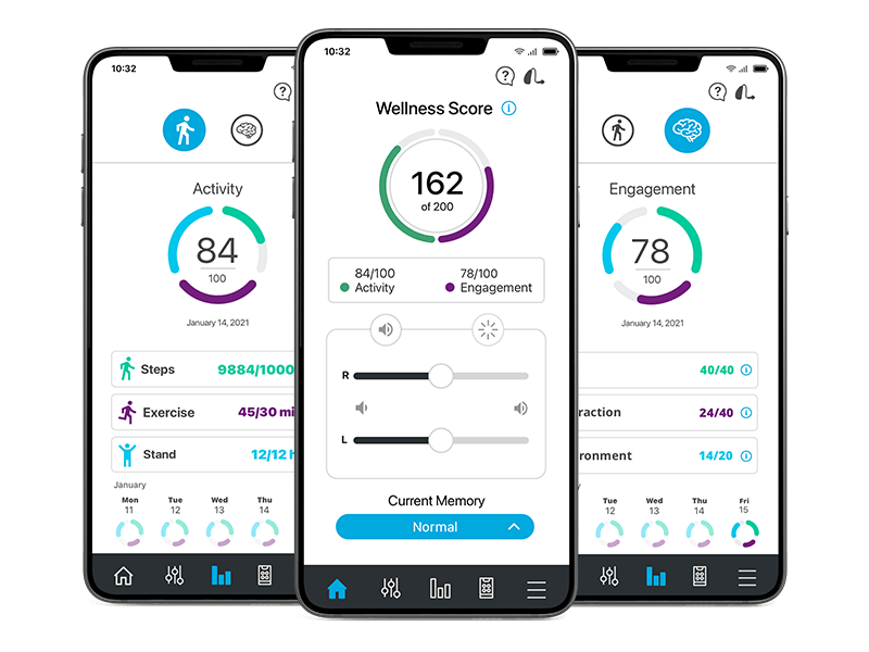 Thrive Hearing App Screens